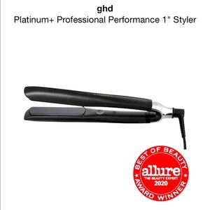 Ghd platinum + one inch flat iron in white